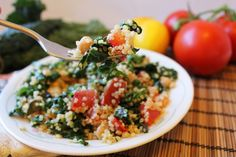 ... Quinoa Salad, Chickpeas Recipe, Diet Recipes, Recipes Salads, Kale