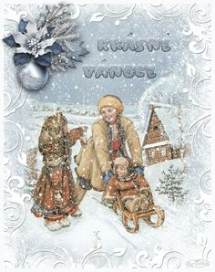 Vánoční přání třpyt a animace - různá | vánoční blog Christmas Time, Merry Christmas, Blog, Winter, Movie Posters, Painting, European Countries, Czech Republic, Advent