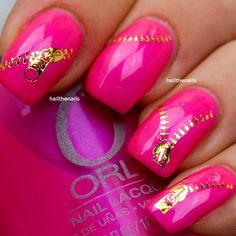 Pink Zipper Nails!