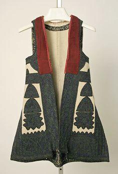 Greek jacket, wool, silk, 19th century :: Metropolitan Museum of Art