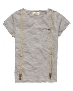 Scotch and Soda tees with suspenders