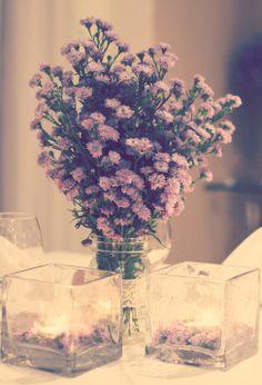 Civil Wedding Dinner, Jantar de Casamento Civil, Lilas, flores do campo, flowers, light decor, decor, decoraçao, mesa de jantar, dinner table, lilac, candles, velas, center piece, arranjo de flores