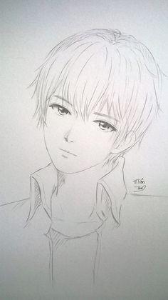Hairs Anime Boy Sketch, Anime Drawings Sketches, Manga Drawing, Manga Art, Cute Drawings, Anime Art, Arte Sketchbook, Anime Kawaii, Grafik Design