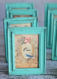 Shabby Chic Table Numbers Vintage Inspired Wedding Set Of 12 (item P10138)