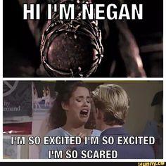 Jeffrey dean morgan as Negan / twd Walking Dead Tv Series, Walking Dead Funny, Fear The Walking Dead, Rip Glenn, Twd Memes, Dead Inside, Stuff And Thangs, Me Tv, Book Series