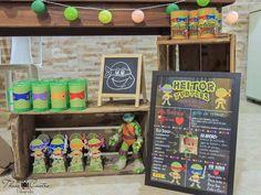 Que amor esta Festa Tartarugas Ninjas!!Imagens enviadas pela mamãe Carol Mathias.Lindas ideias e muita inspiração.Bjs, Fabíola Teles.Mais ideias lindas: Carol Mathias....