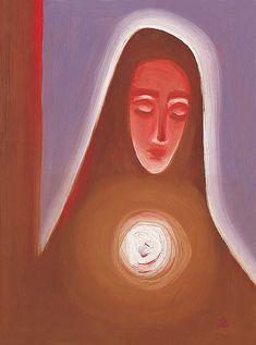 Panna Mária - akad. mal. Ladislav Záborský | Umeniezduse.sk  Skúste vyhľadávanie podľa nasledovných kľúčových slov: maľba, náboženský motív, sakrálny, sakrálna, Panna Mária