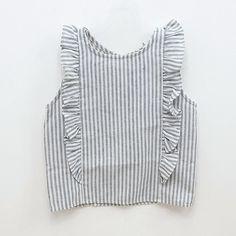 Faon Stripe Blouse — jujubunnyshop Idea only Fashion Kids, Little Fashion, Baby Girl Fashion, Pretty Outfits, Fall Outfits, Kids Outfits, Kids Mode, My Baby Girl, Kids Wear
