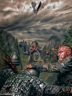 VIKINGS the Series, Ragnar Lothbrok and Floki>>> Something to pass time… Vikings 2, Vikings Show, Vikings Tv Series, Norse Vikings, Vikings Actors, Vikings Lagertha, Floki, Ragnar Lothbrok, Viking Art