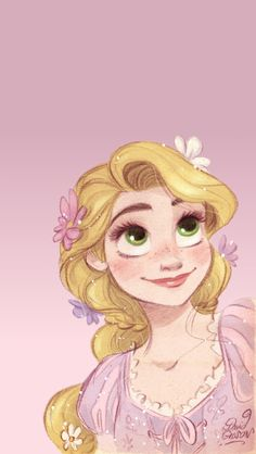 "disneyledolls: ""// I made some Rapunzel wallpapers from the wonderful artwork of Princekido. Bonus: Wedding Rapunzel // """
