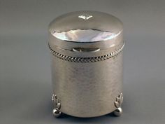 Tea Caddy , Birmingham 1920 , Silver
