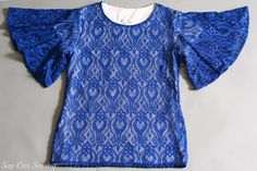 Lace Angel-sleeve top