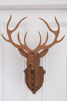 1000 images about laser cut stag head on pinterest stag for Free cardboard taxidermy templates