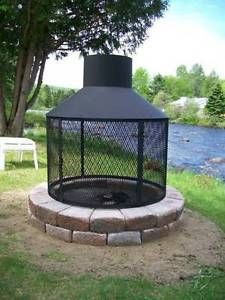 Cozy Backyard, Fire Pit Backyard, Outdoor Rooms, Outdoor Living, Fire Pit Chimney, Indoor Fire Pit, Landscape Design, Garden Design, Outside Fire Pits