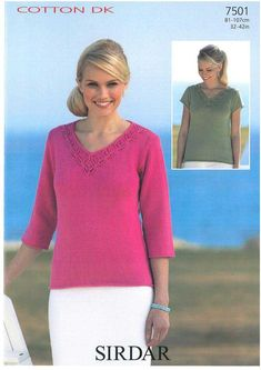 Sweaters in Sirdar Cotton Dk - Digital Version