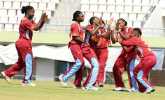 West Indies Girls celebrate the only way they celebrate.