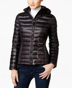 Calvin Klein Logo Packable Puffer Coat -