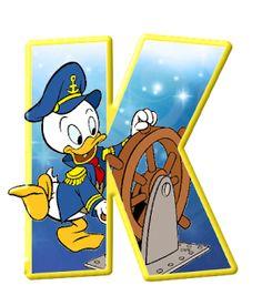 Alfabeto de personajes Disney con letras grandes K Jorgito.