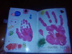 Odciski dłoni - córa była zabawą zachwycona :)