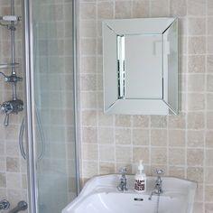 deep all glass bathroom mirror by decorative mirrors online | notonthehighstreet.com