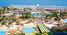Egypte Hurghada  Hotel Primasol Titanic Resort.  Naast  aquapark, glijbanen. Privé strand op 800 m, gratis shuttle service. Het oude centrum van Hurghada (Sekalla)  op 17 km