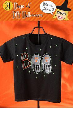 boo handprint t shirt