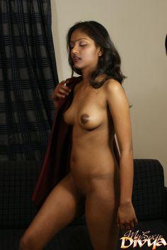 Hot naked girl giving a blow job