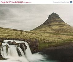 SALE: Iceland Waterfall Kirkjufellsfoss by EyePoetryPhotography