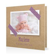 Geburtskarte Masking Tape in Lavendel - Klappkarte quadratisch #Geburt #Geburtskarten #Mädchen #Foto #kreativ #vintage https://www.goldbek.de/geburt/geburtskarten/maedchen/geburtskarte-masking-tape?color=lavendel&design=65467&utm_campaign=autoproducts