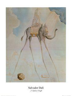 Resultados de la Búsqueda de imágenes de Google de http://cache2.allpostersimages.com/p/LRG/7/798/IAXI000Z/posters/dali-salvador-el-elefante-jirafa.jpg
