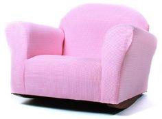 Girls Room Rocking Chair Light Pink Kids Room Furniture Chair Childrens