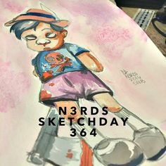 """I Got No Strings"" - In Color #pinocchio #igotnostrings #watercolors #artlove #penandink #nerds #sketchbook #artnerd #acompanyofn3rds #dopeart #imayneednewglasses #n3rds #blerds #geeks #illustration #camu #cansonmixedmedia #Iamanartist"