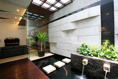 Interior, Modern Pond Koi Fish Small Water Fall: Making a Backyard Fish Pond