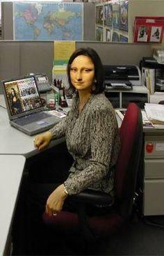 Mona Lisa at work :)