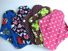 Set of 5 Cute Cotton/ PUL Menstrual Sanitary by JuliansBoutique, $19.99
