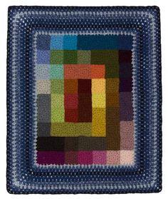 Free Crochet Pattern L40576 Rainbow Squares Afghan : Lion Brand Yarn Company