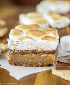 These Toasted S'mores Blondies are the next best thing to traditional s'mores!