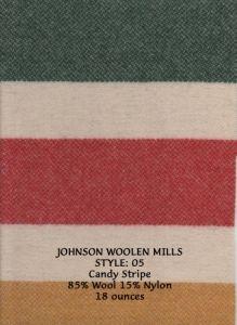 Candy Stripe. 18oz. 85% Wool 15% Nylon.