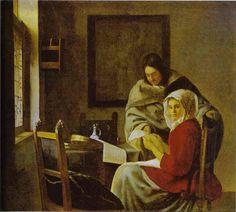 Vermeer La lezione di musica 1660 New York, Collezione Frick
