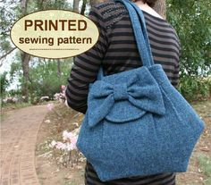 Sewing pattern to make the Kitchen Garden Bags - PRINTED pattern (TWO styles included). $15.00, via Etsy.