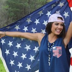 What's better than America? Nothing. What's better than your average tank? A @fraternitycollection patriotic #frocket tank. #CCPatrioticWeek
