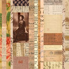 Vintage paper collage by Carin Andersson
