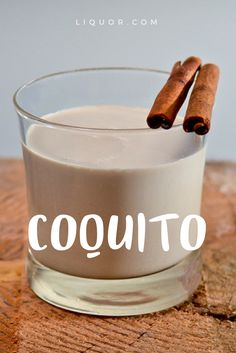 This rich and creamy rum-spiked Coquito is a classic Puerto Rican holiday #cocktail recipe.
