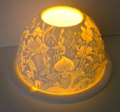 Vintage Bernardaud Limoges Lithopane Tea Light  by oldandnew8, $42.00
