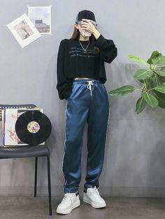 Korean Girl Fashion, Korean Fashion Trends, Ulzzang Fashion, Korean Street Fashion, Korea Fashion, Kpop Fashion, Cute Fashion, Asian Fashion, Tokyo Fashion