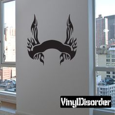 Tribal Flames Frame Wall Decal - Vinyl Decal - Car Decal - DC 099