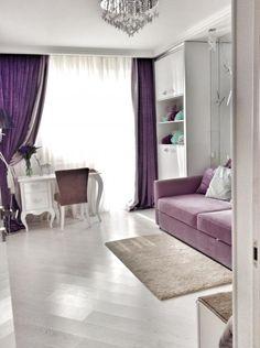 Детская комната, детская в фиолетовых тонах