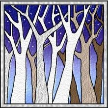 Bare Trees Stained Glass Celtic Quilt Pattern by Celtic Crossworks