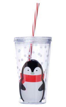 Penguin 24oz Double-Wall Tumbler w/Straw