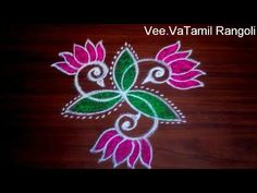 Colourful Peacock Flower Rangoli Kolam|Rangoli Designs With Dots|Simple Sankranthi Muggulu - YouTube